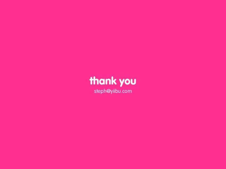 thank you steph@yiibu.com