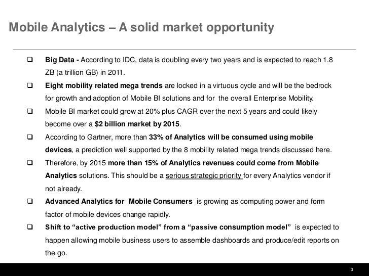Mobile Analytics (Mobile BI) - A Game Changer  Slide 3