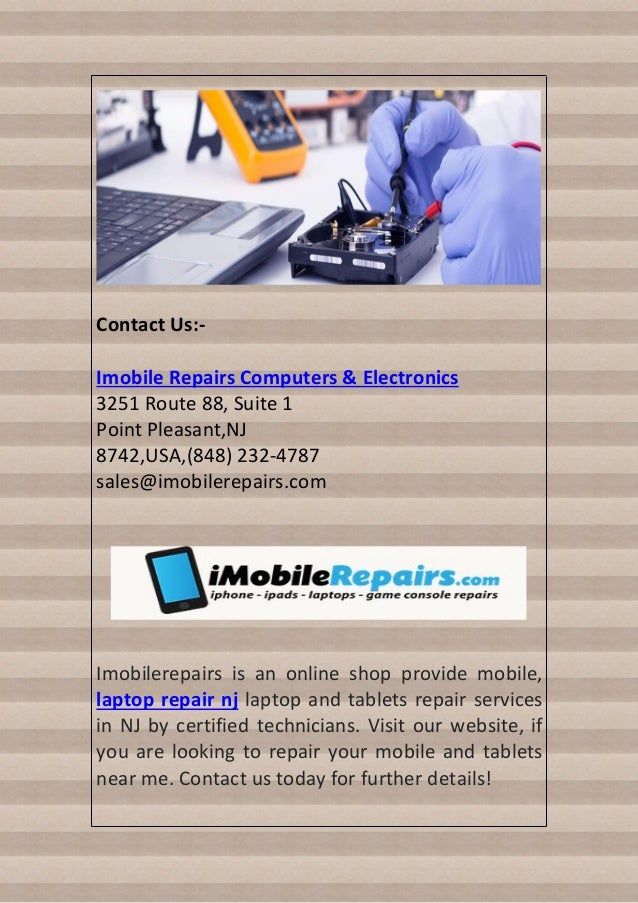 Mobile and laptop repair services in nj