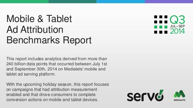 Mobile & Tablet  Ad Attribution  Benchmarks Report  This report includes analytics derived from more than  240 billion dat...