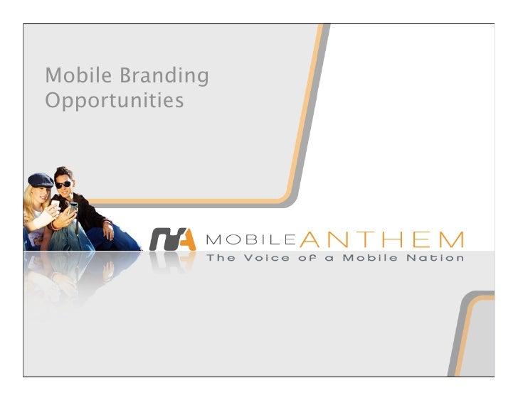 Mobile Branding Opportunities