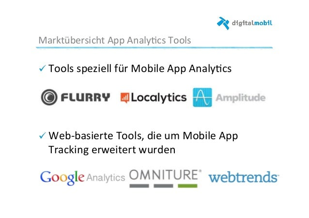 Marktübersicht  App  Analy-cs  Tools   ! Tools  speziell  für  Mobile  App  Analy-cs           ...