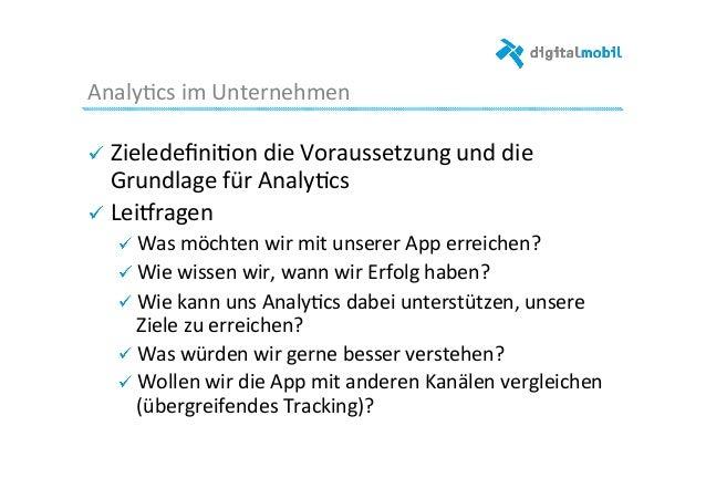 Analy-cs  im  Unternehmen   ! Zieledefini-on  die  Voraussetzung  und  die   Grundlage  für  Analy-cs ...