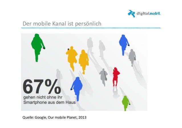 Der  mobile  Kanal  ist  persönlich      Quelle:  Google,  Our  mobile  Planet,  2013