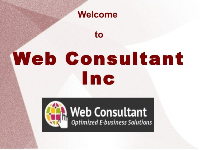 Welcome to Web Consultant Inc