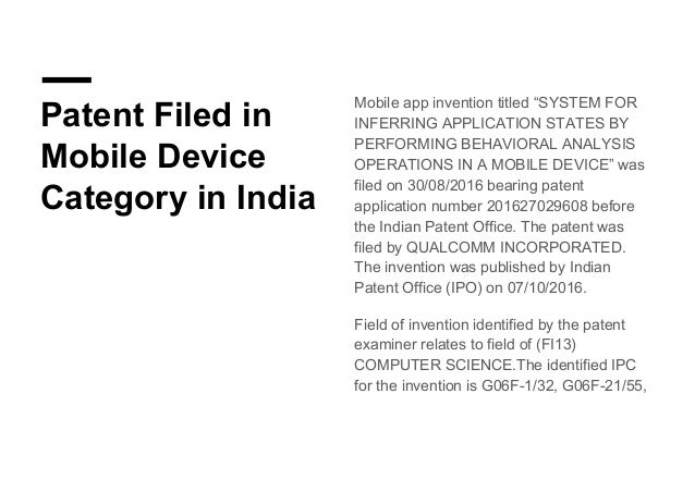 Patenting in Mobile Application (App) & Software Based Technology | H…
