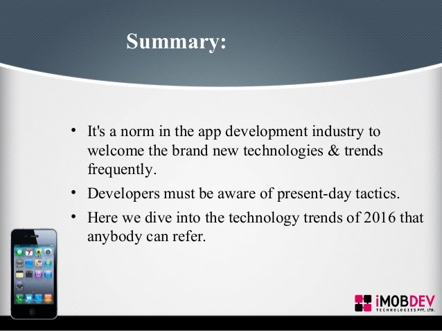 Latest Technology Development : Mobile app development new technologies trends
