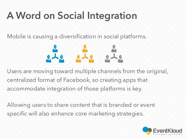 Mobile is causing a diversification in social platforms. Users are moving toward multiple channels from the original, cent...