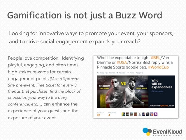 Looking for innovative ways to promote your event, your sponsors, and to drive social engagement expands your reach? Gamif...
