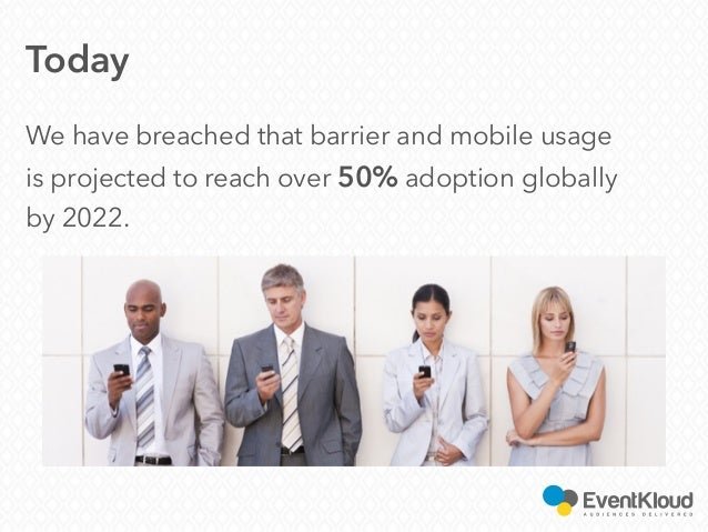 Today We have breached that barrier and mobile usage is projected to reach over 50% adoption globally by 2022.