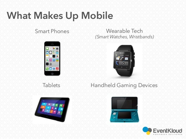 Handheld Gaming Devices What Makes Up Mobile Smart Phones Wearable Tech (Smart Watches, Wristbands) Tablets