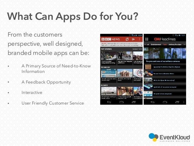 From the customers perspective, well designed, branded mobile apps can be: • A Primary Source of Need-to-Know Information ...