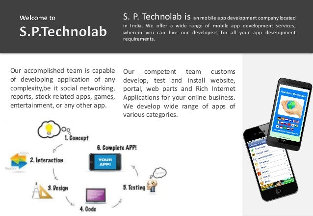 V S. P. Technolab is an mobile app development company located in India. We offer a wide range of mobile app development s...
