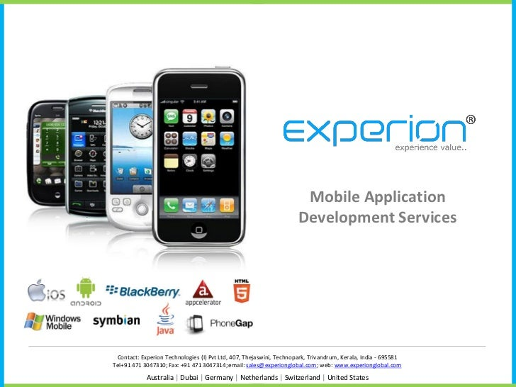 Mobile Application                                                                     Development Services Contact: Exper...