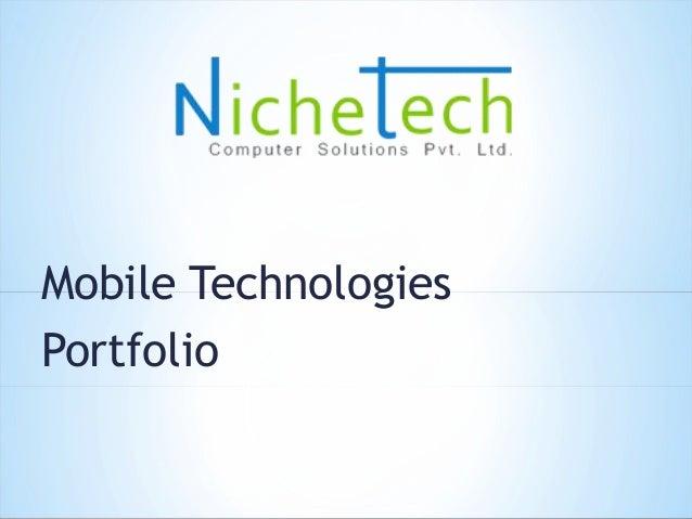 Mobile Technologies Portfolio