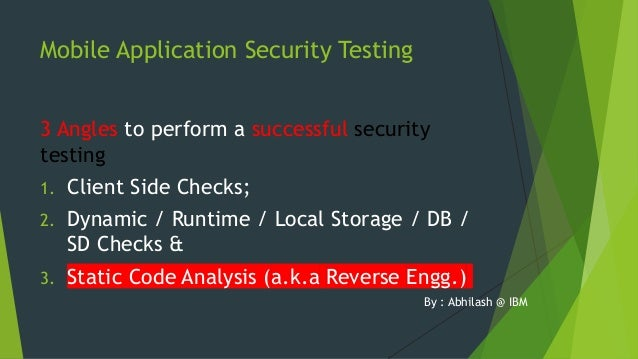 dynamic code analysis Integrating security measures into the software development life cycle (sdlc) is crucial web application security one of these measures is source code analysis, which includes both static.