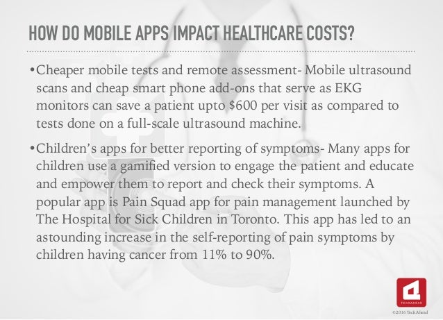Mobile Apps as Tools of Cost Reduction in Health Care