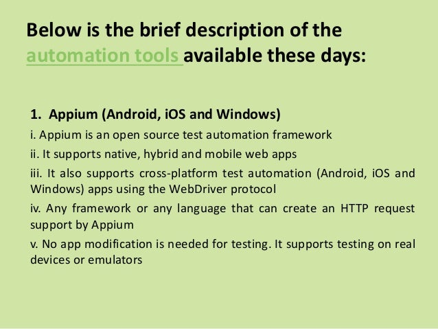 Mobile apps automation testing tools: Reduce your test time to market