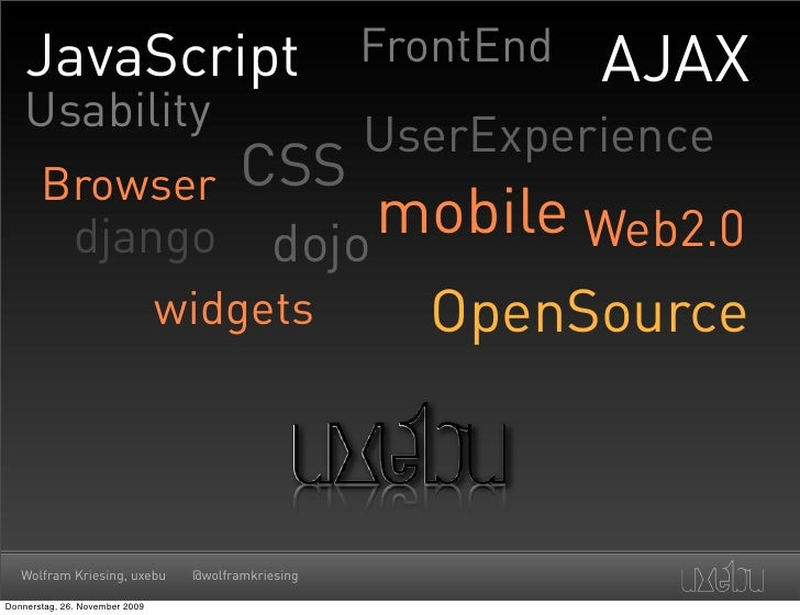 JavaScript                                      FrontEnd   AJAX     Usability                                             ...