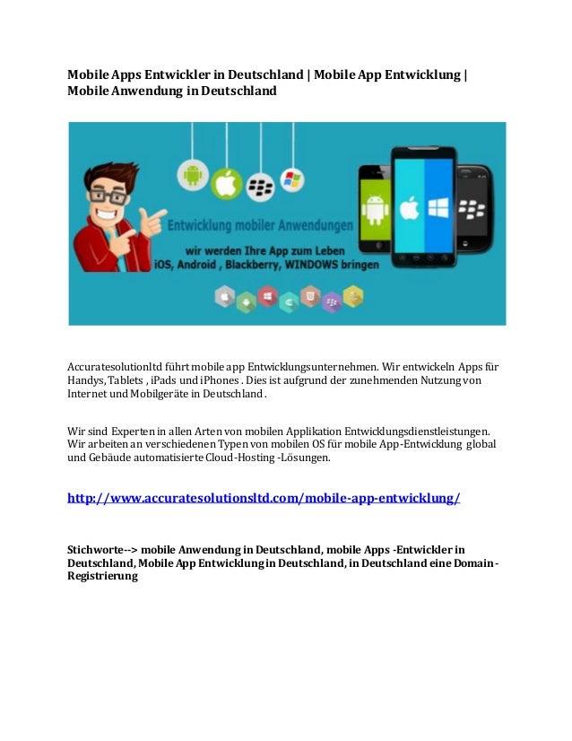 Mobile Apps Entwickler in Deutschland | Mobile App Entwicklung