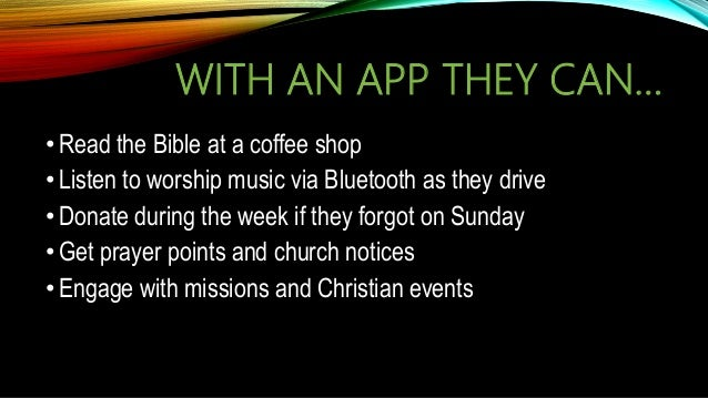 Mobile Apps for Church and Ministry
