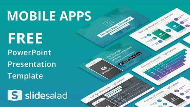 mobile apps free powerpoint presentation theme, Modern powerpoint