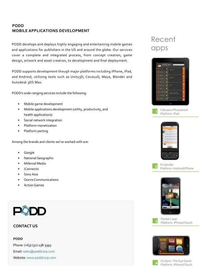 PODD Mobile apps portfolio   Slide 2