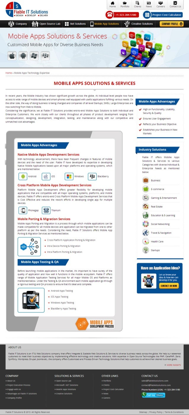 Fiable IT Solutions-Mobile Apps Solutions