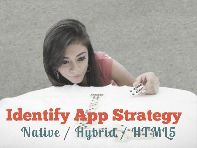 Identify App Strategy