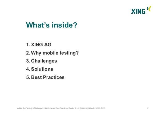 Mobile App Testing ScanAgile 2012 Slide 3
