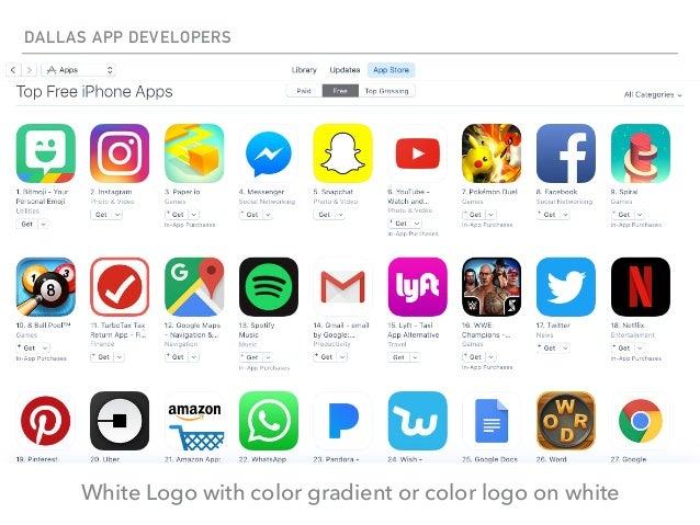DALLAS APP DEVELOPERS White Logo With Color Gradient