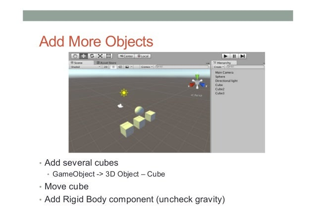 Mobile AR Lecture6 - Introduction to Unity 3D