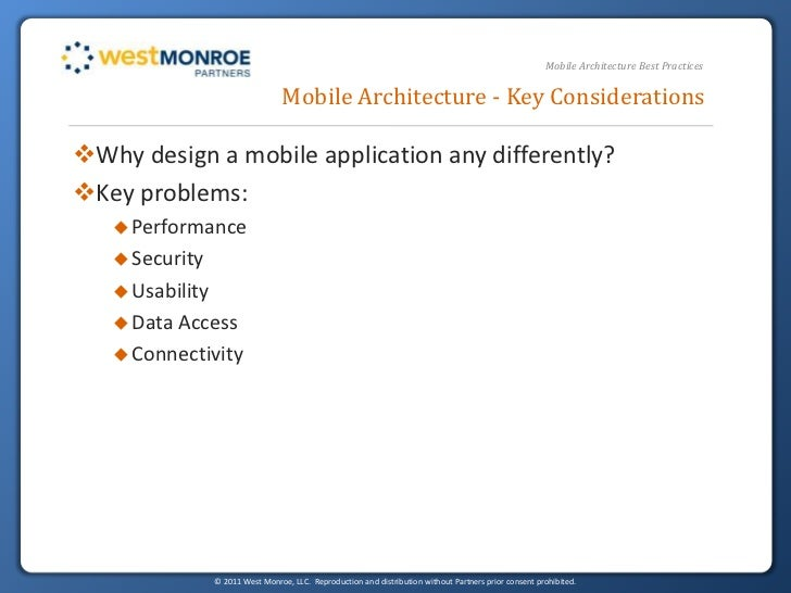 Mobile Architecture Best Practices slideshare - 웹