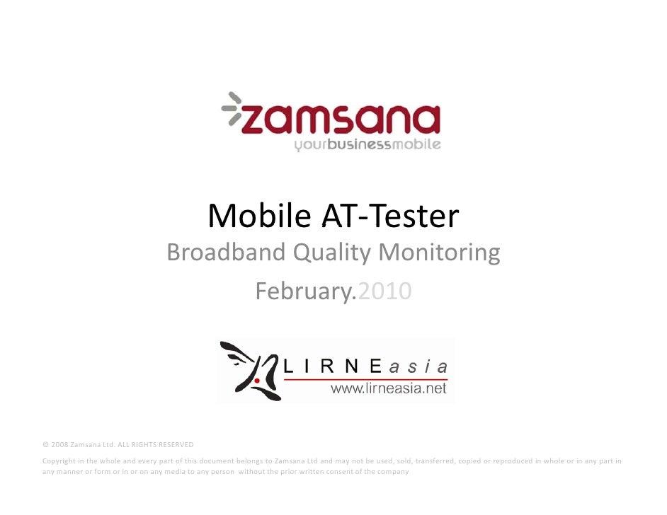 Mobile AT‐Tester                                                      AT Tester                                    Broadba...