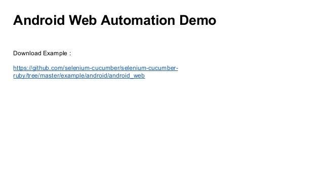 Mobile Automation Framework Using Appium Github