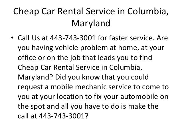 mobile auto mechanic in columbia maryland car repair review