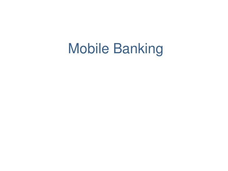 Mobile Banking<br />