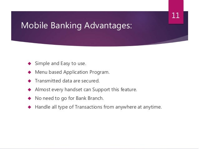 features of mobile banking