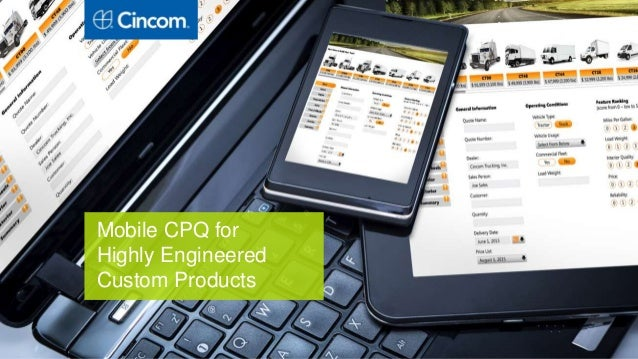 Mobile CPQ for Highly Engineered Custom Products