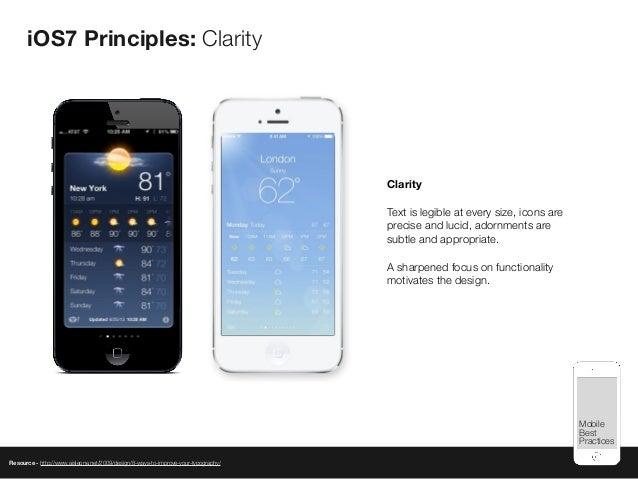 Mobile Best Practices iOS7 Principles: Clarity Resource - http://www.aisleone.net/2009/design/8-ways-to-improve-your-typog...