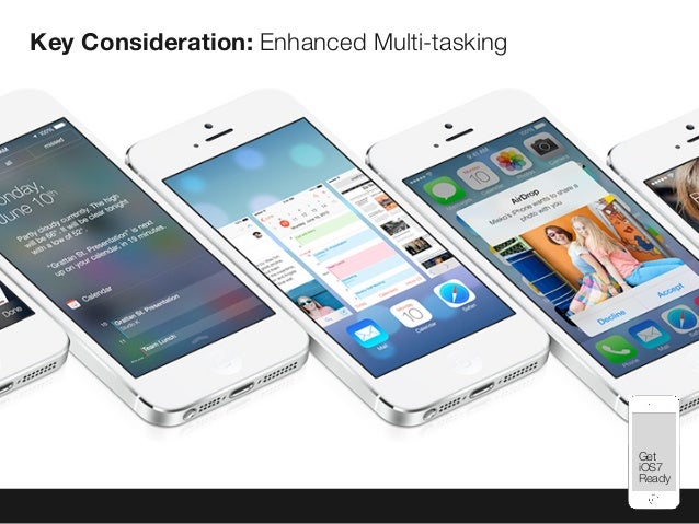 Mobile Best Practices Key Consideration: Enhanced Multi-tasking Get iOS7 Ready