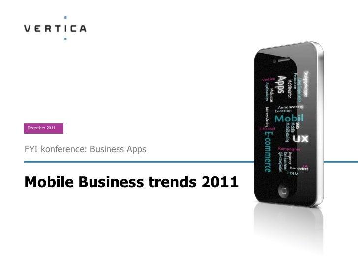 December 2011FYI konference: Business AppsMobile Business trends 2011