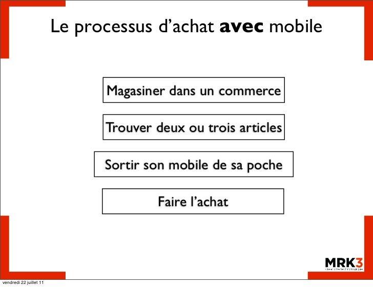 Le processus d'achat avec mobile                               Magasiner dans un commerce                               Tr...