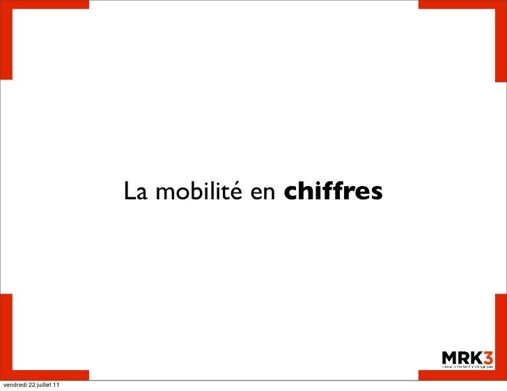 La mobilité en chiffresvendredi 22 juillet 11