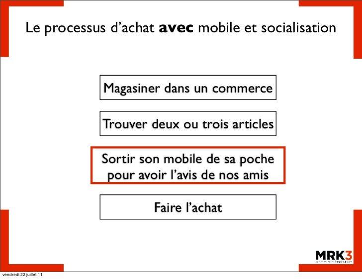 Le processus d'achat avec mobile et socialisation                         Magasiner dans un commerce                      ...