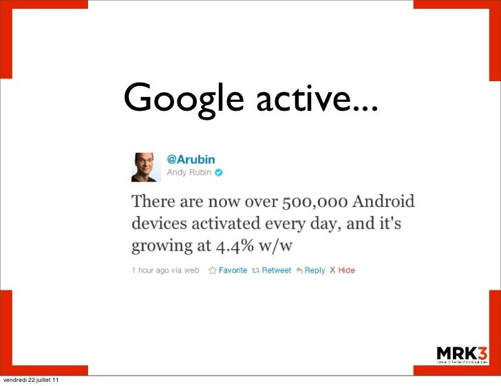 Google active...vendredi 22 juillet 11