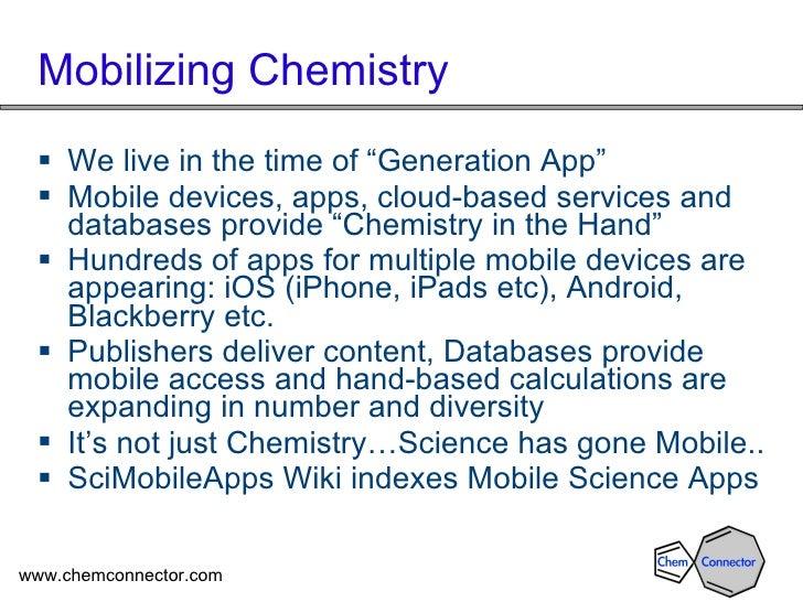 Mobile Chemistry and the SciMobileApps Wiki OCTOBER 2011 VERSION Slide 2