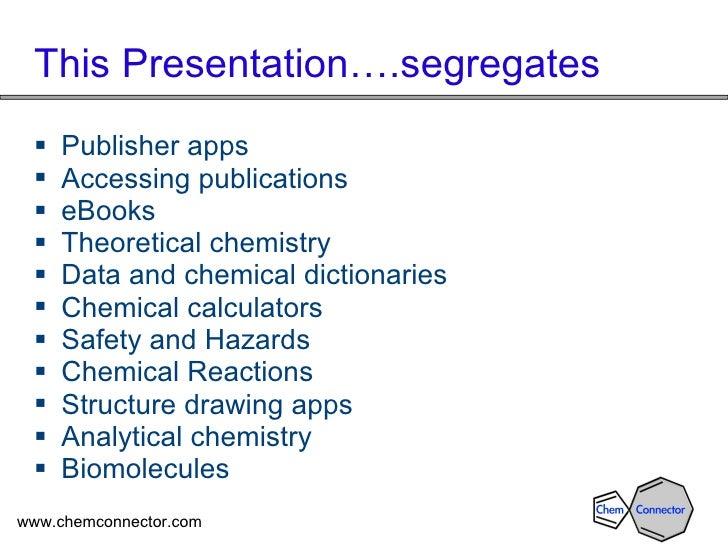 Mobile Chemistry and the SciMobileApps Wiki OCTOBER 2011 VERSION Slide 3