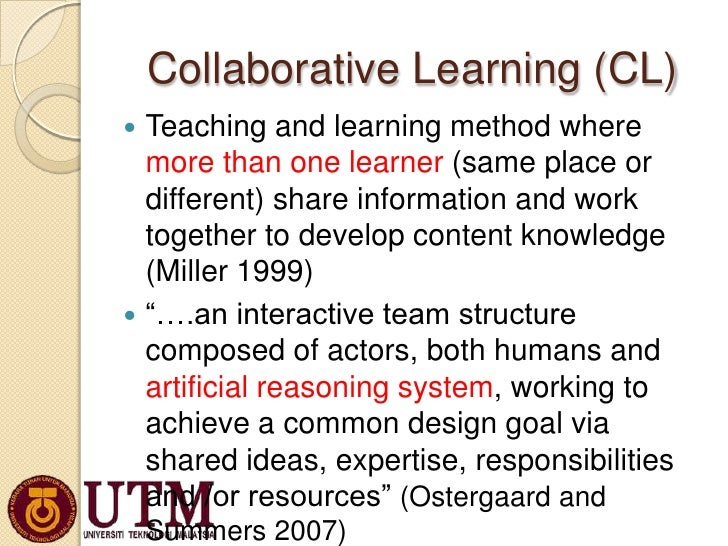 Collaborative Teaching Methodologies : Mobile collaborative learning dr azizah oct