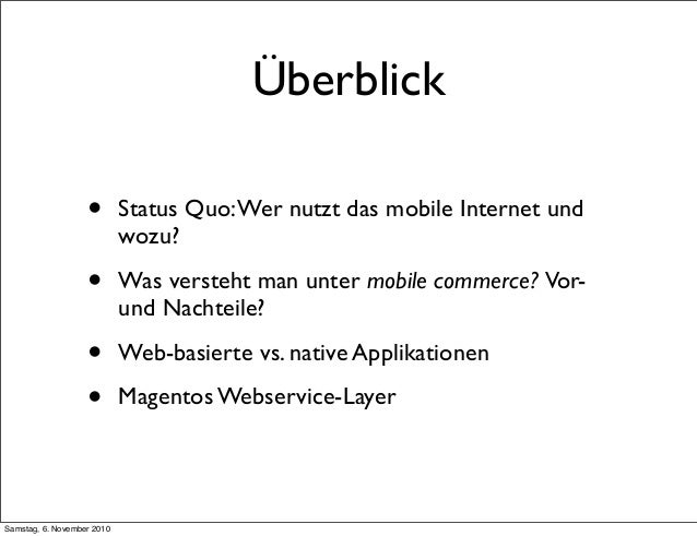 Mobile Commerce (Meet-Magento 04.10) Slide 2